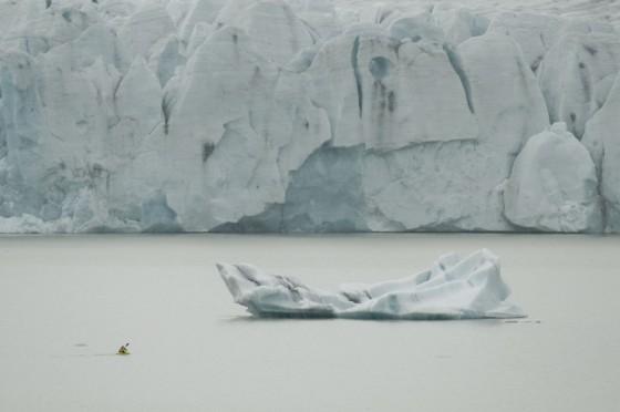Iceburg paddling